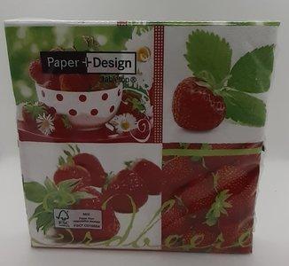 Erdbeer-Servietten 33 cm x 33 cm