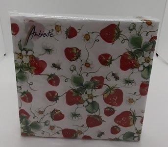 Erdbeer-Servietten 25cm x 25cm